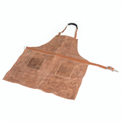 schort uit koeleder bruin 76x85cm  Barbecook