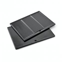 universele contactplaat uit geëmailleerd gietijzer zwart 43x35cm Barbecook