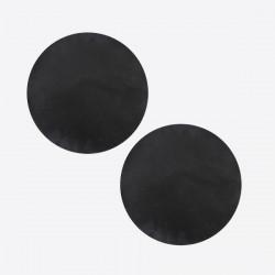 set van 2 grillmatten zwart Ø 40cm
