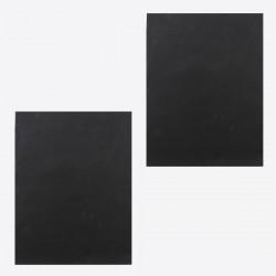 set van 2 grillmatten zwart 40x33cm