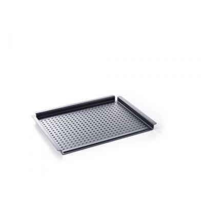 Black Steel Barbecueplaat met grillgaten 44x32cm  BK