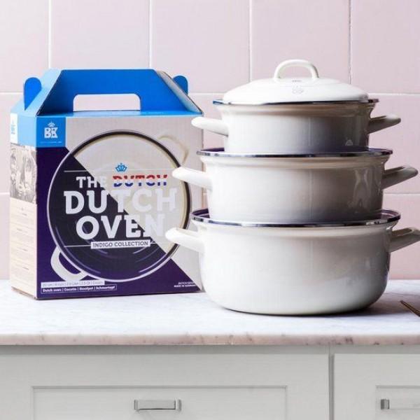 Dutch Oven Stoofpot 24 cm Oud Wit