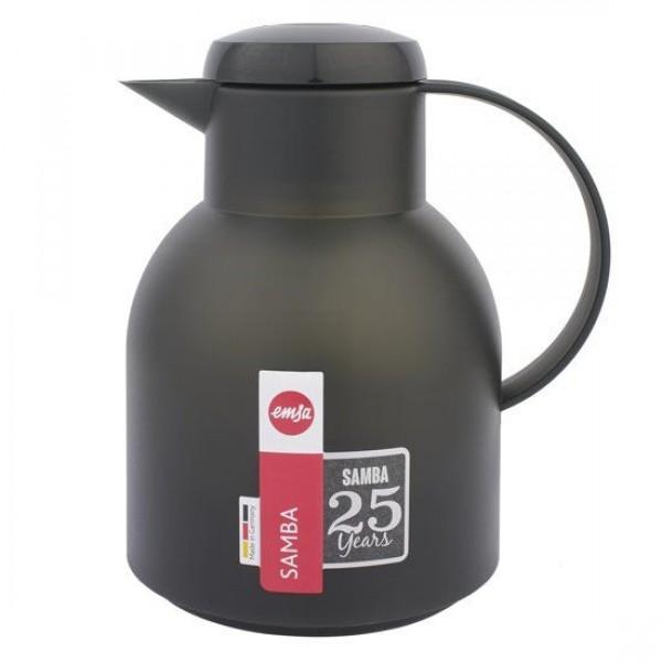 Emsa Samba 1L Quick tip Transculent Zwart 509155