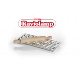 Raviolamp raviolimat voor 6 ravioli halve maan met deegrol