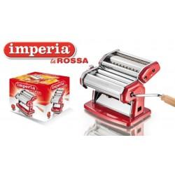 Ipasta La Rossa pastamachine uit verchroomd staal rood  Imperia