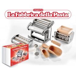 La Fabbrica della Pasta pastamachine, opzetstukken, snijder en bloemscheppen Imperia