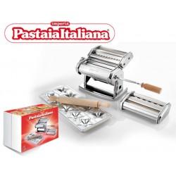 Pastaia Italiana pastamachine met extra opzetstuk en raviolimat voor 10 sterren
