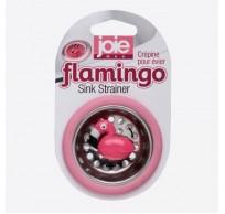 Flamingo gootsteenzeef roze flamingo Ø 6.4cm H 1.5cm