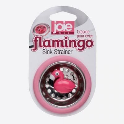 Flamingo gootsteenzeef roze flamingo Ø 6.4cm H 1.5cm  JOIE
