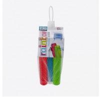 Rainbow set van 6 herbruikbare ijssticks blauw, groen en rood