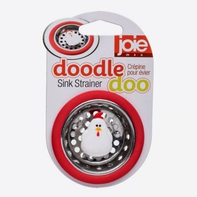 Doodle Doo gootsteenzeef rood kip Ø 6.4cm H 1.5cm  JOIE