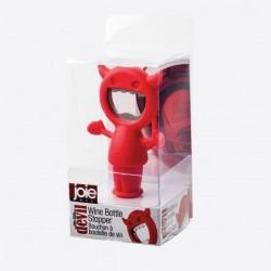 Devil flessenopener/flessenstop rood  JOIE
