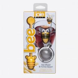 Bee thee infuser uit rvs en honinglepel geel bij  JOIE