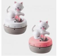 Meow kookwekker tot 1 uur kat wit of roze