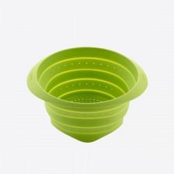 vouwbaar vergiet uit silicone groen Ø 23cm H 13.5cm  Lékué