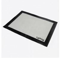 rechthoekige bakmat uit silicone en glasvezel zwart 60x40cm