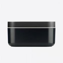 rechth. ijsemmer met ijsblokjesvorm uit silicone en ABS zwart 22.5x12.5x11.6cm  Lékué