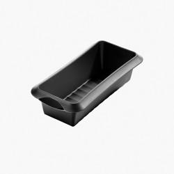 rechthoekige cakevorm uit silicone zwart 24x10x6.8cm