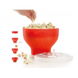 opvouwbare popcornmaker voor magnetron uit silicone Ø 20cm H 14.5cm