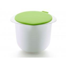 set om verse kaas te maken uit silicone en kunststof wit en groen 14.5x17x13cm