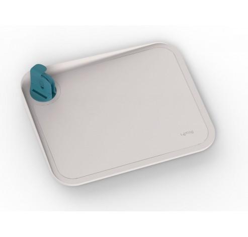 snijplank uit kunststof met bevestigingsclip voor mes blauw 30x25x7.1cm  Lékué