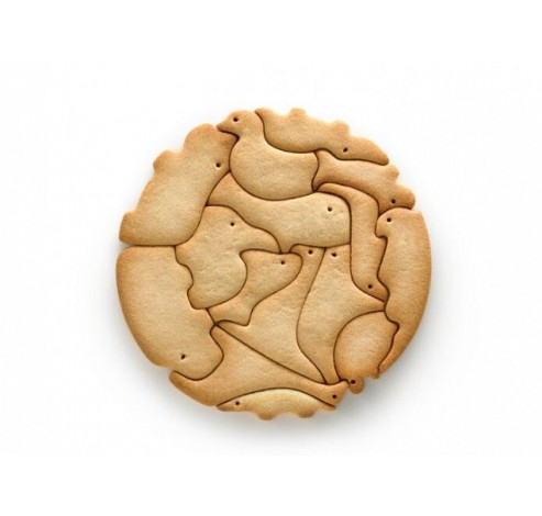 uitsteekvorm uit ABS voor 15 koekjes - dieren  Lékué