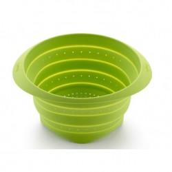 vouwbaar vergiet uit silicone groen Ø 18cm