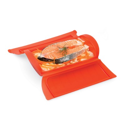 Magnetron stomer voor 1-2 personen uit silicone rood 24x12.4x5cm