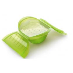 set van stomer uit silicone voor 3-4 personen groen en kookboek NL  Lékué