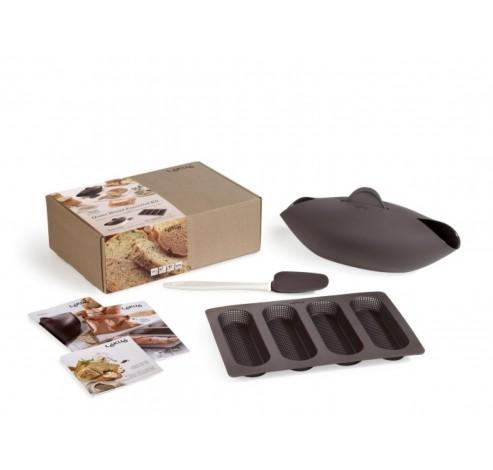 4-delige broodbak set voor 4 stokbroden uit silicone  Lékué