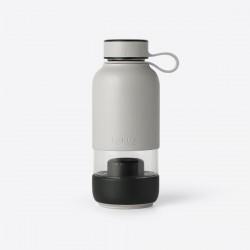 Bottle To Go drinkfles uit glas met filter grijs 600ml  Lékué