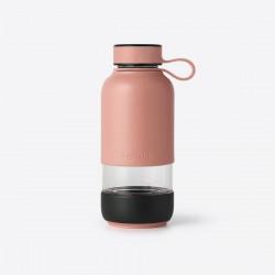 Bottle To Go drinkfles uit glas koraal 600ml  Lékué