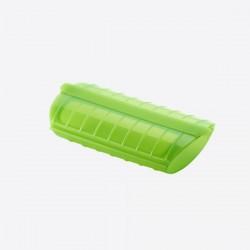 Stomer voor magnetron voor 3-4 personen uit silicone groen 26x19x11.5cm  Lékué