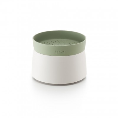 Rijst- & quinoakoker voor magnetron wit en groen Ø 13cm H 17.8cm  Lékué