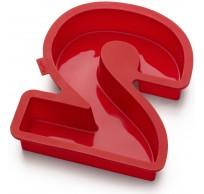 bakvorm uit silicone rood nummer 2