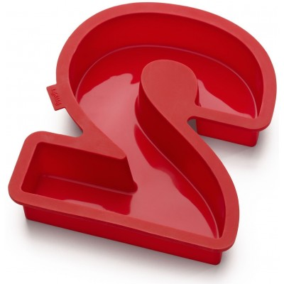 Bakvorm uit silicone rood nummer 2 31.5x26.6x4cm