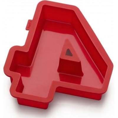 Bakvorm uit silicone rood nummer 4 31.4x27.7x4cm