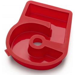 bakvorm uit silicone rood nummer 5