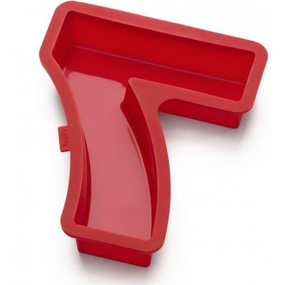 Bakvorm uit silicone rood nummer 7 31.5x25.9x4cm