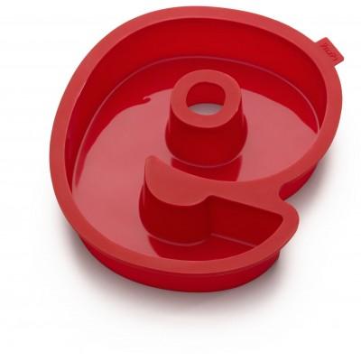 Bakvorm uit silicone rood nummer 9 31.4x26.9x4cm