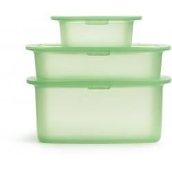 set van 3 voorraaddozen uit silicone groen 200ml, 500ml & 1l  Lékué