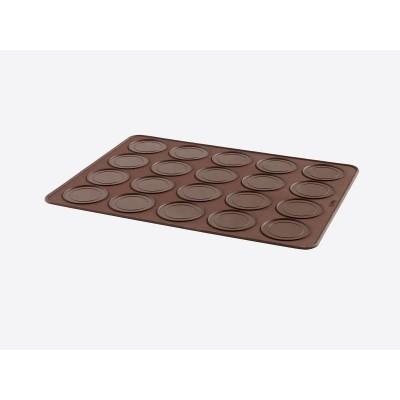Whoopie pie set met Decomax deegspuit en bakmat uit silicone bruin 40x30x0.3cm  Lékué