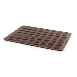 Silicone bakmat voor 24 macarons bruin 40x30x0.3cm