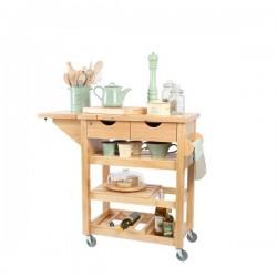 keukentrolley uit hevea hout  T&G Woodware