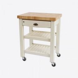 Pembroke keukentrolley uit hevea hout wit  T&G Woodware