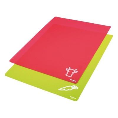 Set van 2 flexibele snijmatten uit kunststof rood en groen 38x30.5cm  Westmark