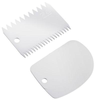 Set van 2 deegschrapers uit kunststof wit 8.7x12.2x0.3cm  Westmark