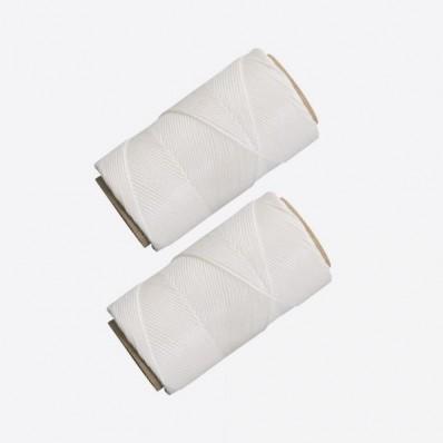 Set van 2 keukentouwen uit polyester wit 60m