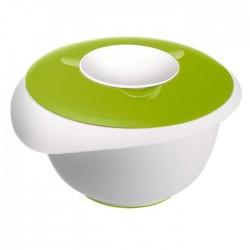 mengkom met antispatdeksel uit kunststof groen en wit 2.5L  Westmark