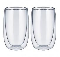 set van 2 dubbelwandige glazen 400ml